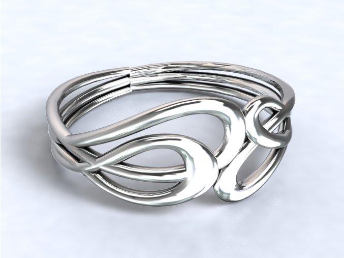Stříbrný prsten Irsko 318701