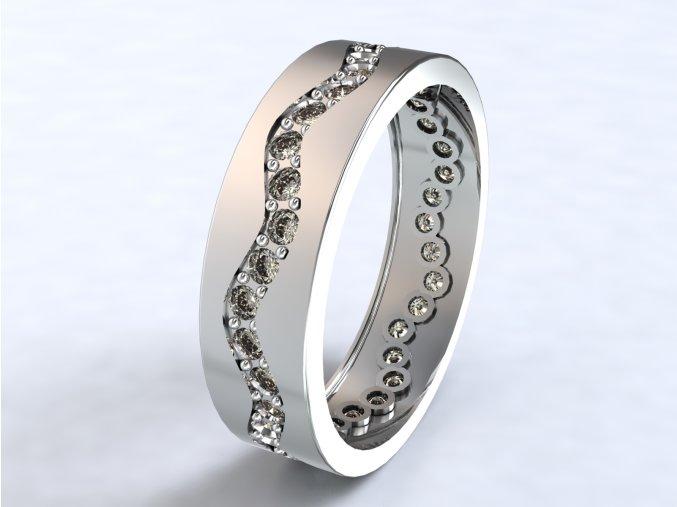 Stříbrný prsten vlnovka