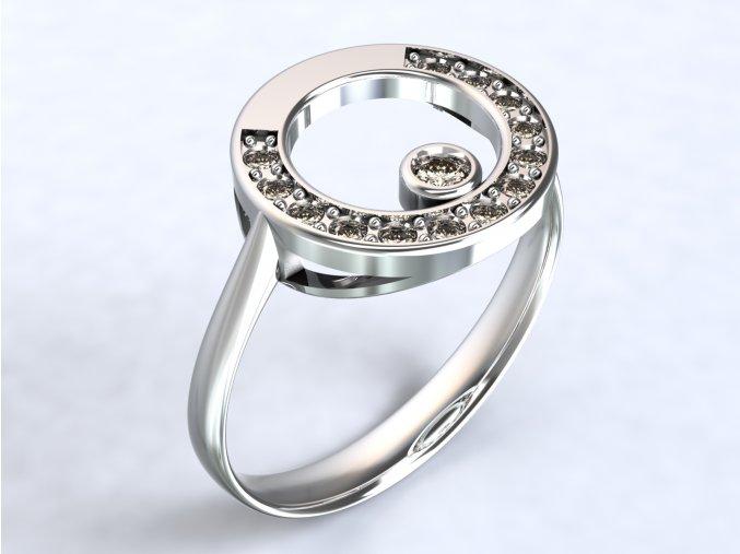 Stříbrný prsten sněhulák