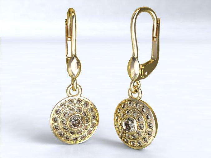 Zlaté náušnice kolečko 1209301