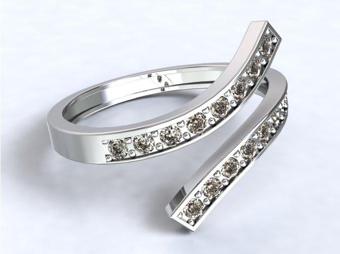 Stříbrný prsten otevřený