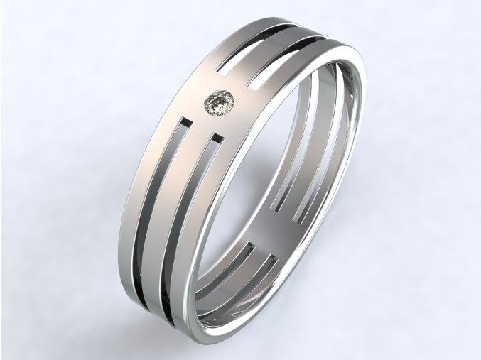 Stříbrný prsten čtyři mosty