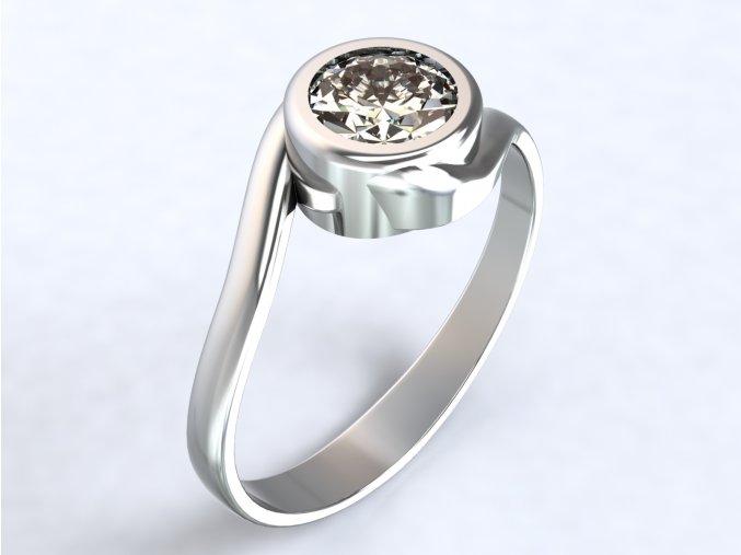 Ag925 prsten přetočený