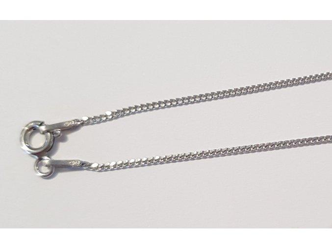 Stříbrný řetízek 100 cm 070406