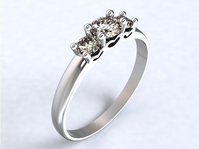 Ag925 prsten srdíčka ze strany