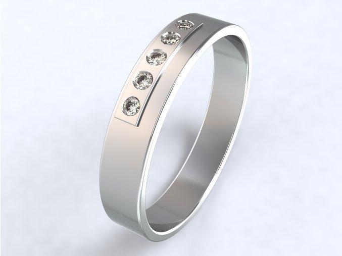 Stříbrný prsten plošina 321701