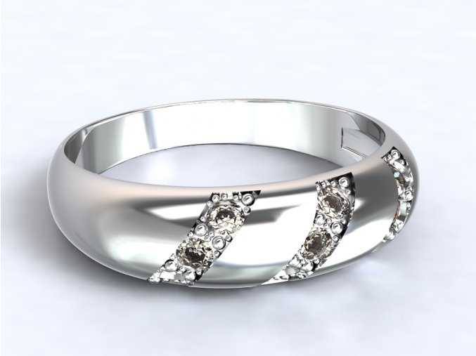 Stříbrný prsten bombe