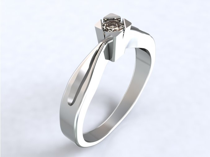 Ag925 prsten zirkon v čtverci