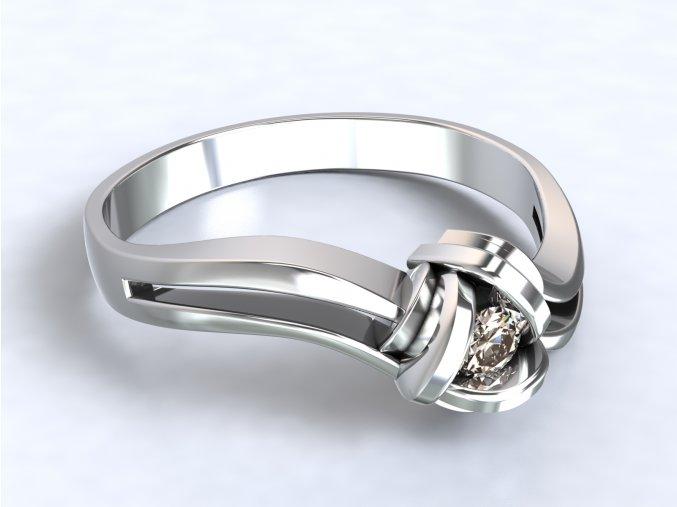 Stříbrný prsten hnízdo