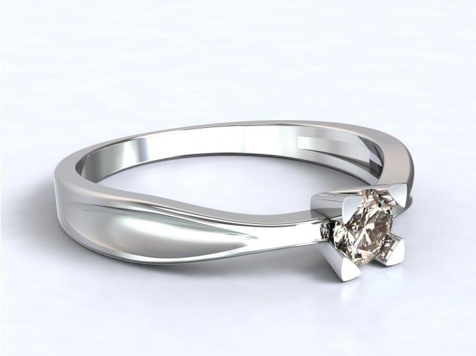 Stříbrný prsten hranatý kotlík