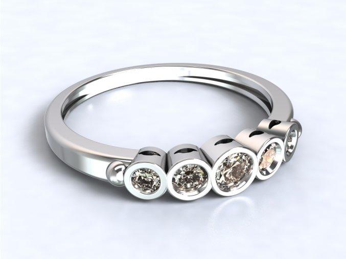 Stříbrný prsten diadém