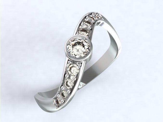 Stříbrný prsten vrtule