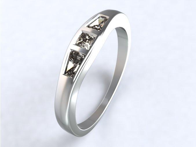 Ag925 prsten lichoběžníky na boku