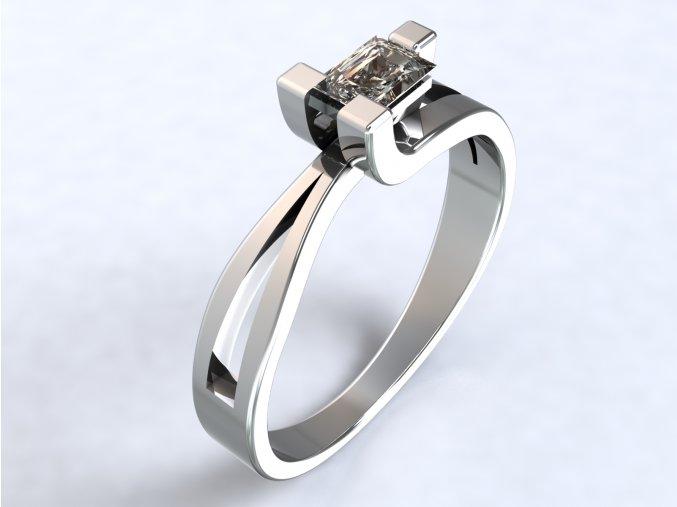 Stříbrný prsten bagr