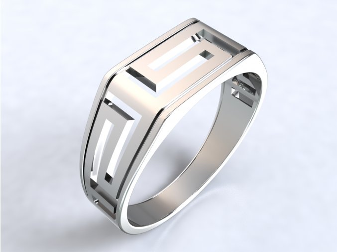 Ag925 prsten Versace hrany