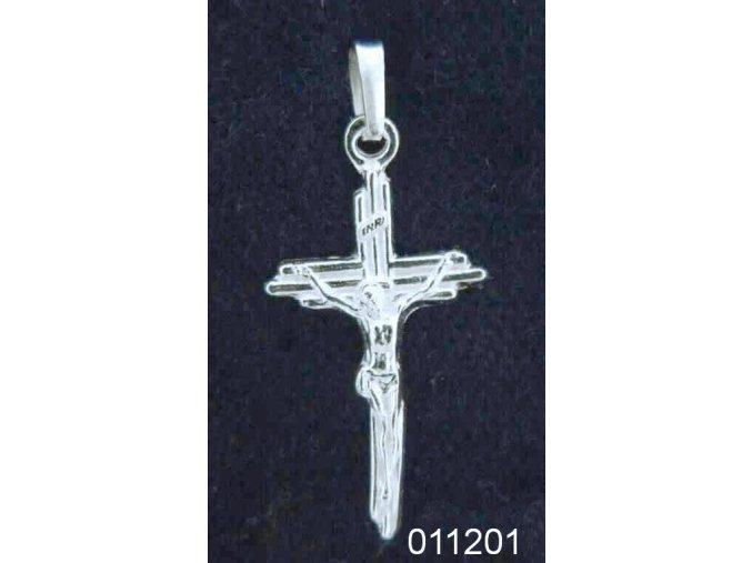 Přívěsek kříž s Kristem stříbrný menší