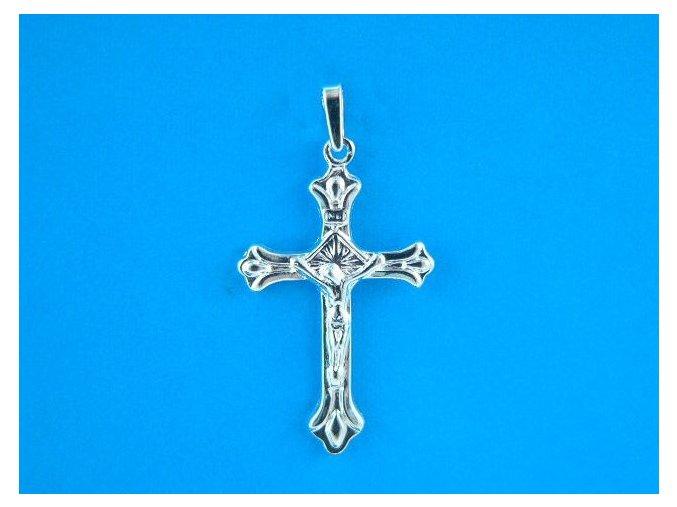 Přívěsek kříž s Kristem stříbrný větší