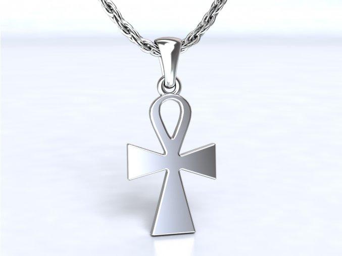 Stříbrý přívěsek Egyptský-nilský kříž Ankh 011801