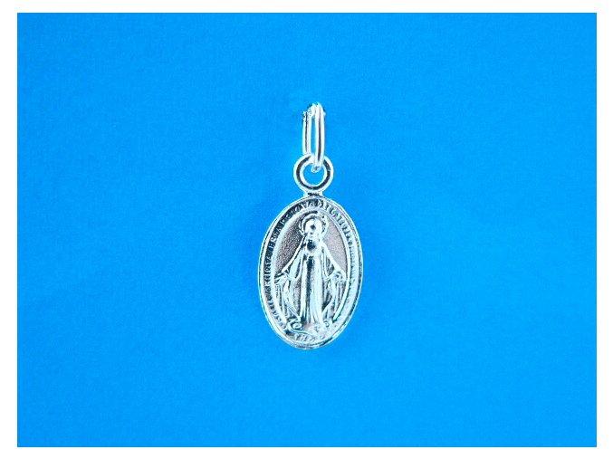 Stříbrný přívěsek zázračná medailka 16 mm 012305
