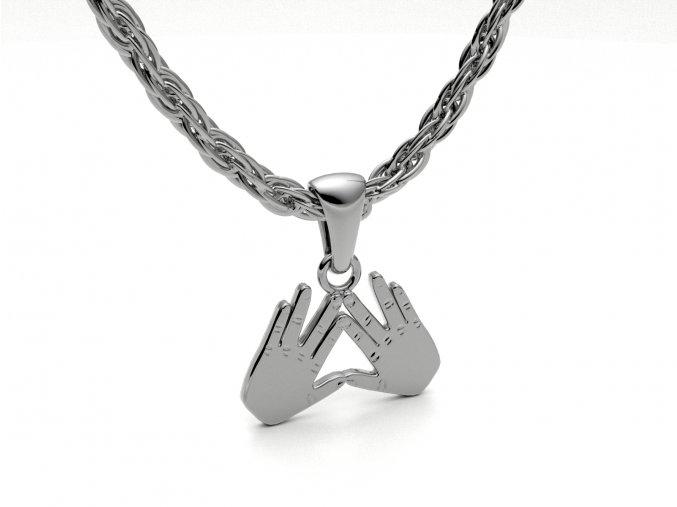 Přívěsek Kohenovy ruce stříbrné