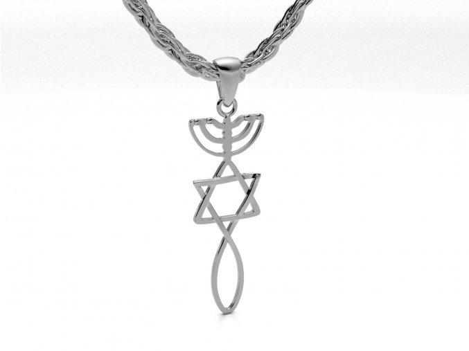 Přívěsek izraelská pečeť stříbrná