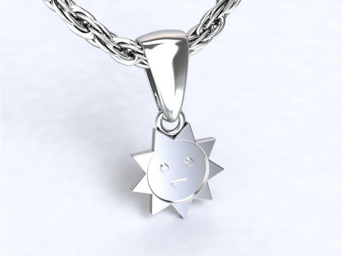 Přívěsek sluníčko stříbné 101301