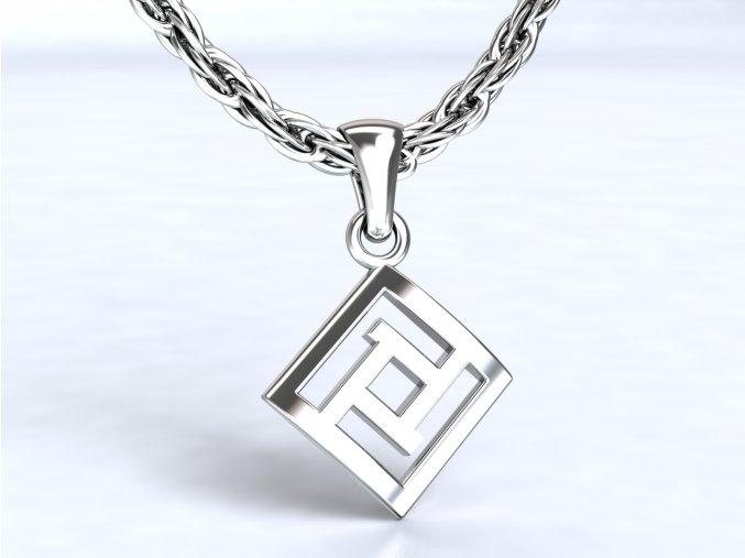 Přívěsek labyrint stříbrný 103901