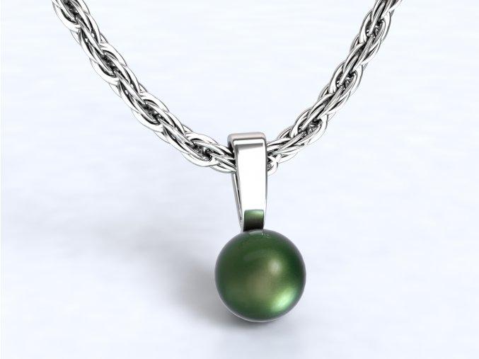 Přivěsek perla stříbrný