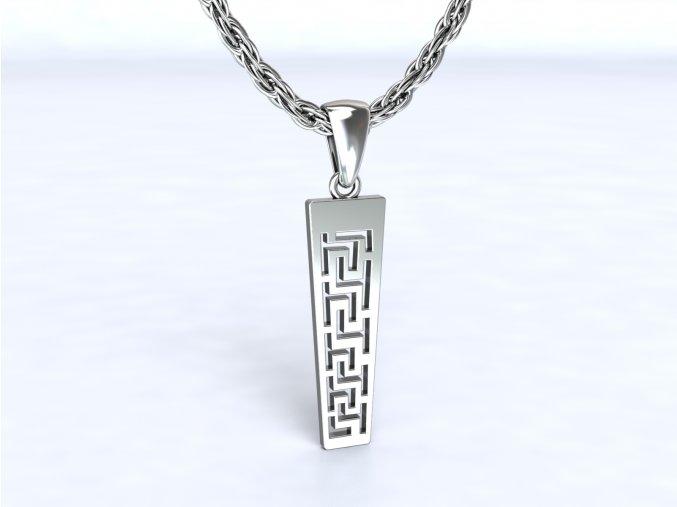 Přívěsek řecký motiv stříbrný