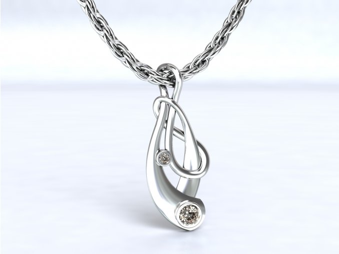 Přívěsek Irsko se zirkony stříbrný 111301