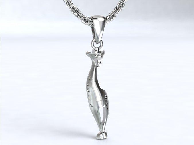 Stříbrný přívěsek žirafa 119301