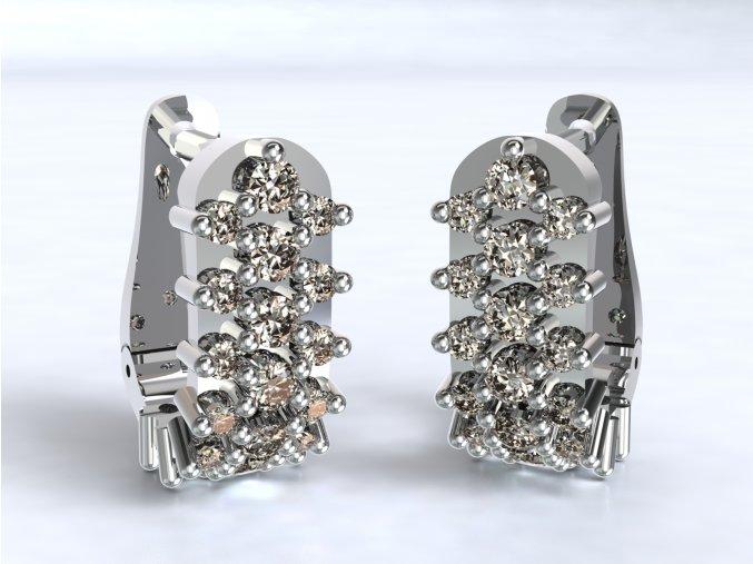 Stříbrné náušnice ježek 203801