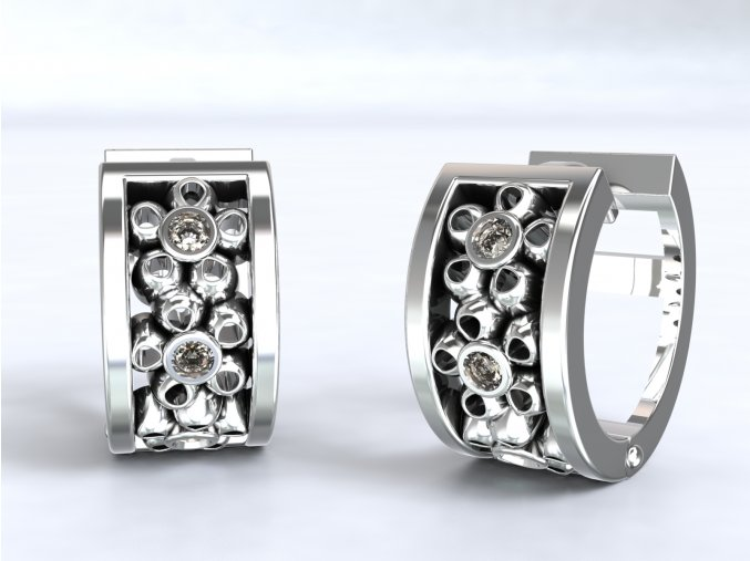 Stříbrné kroužky kytička 205401