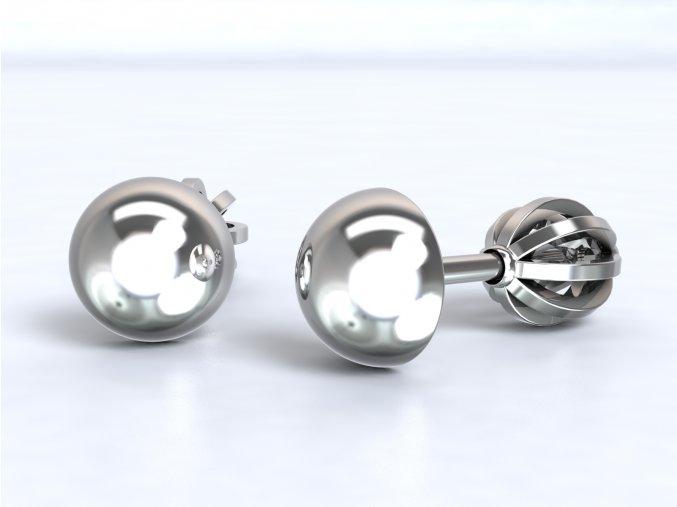 Stříbrné šroubky půlkulička