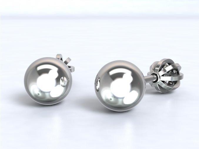 Stříbrné šroubky kulička
