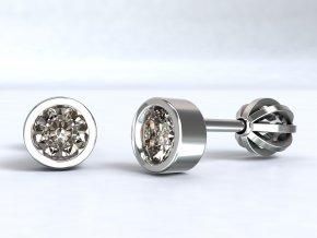 Stříbrné šroubky kulaté 215701