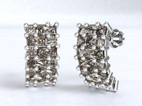 Stříbrné šroubky hranatý ježek 218701