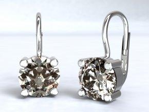 Stříbrné náušnice zirkon 7 mm 221801