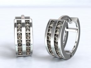 Náušnice kroužky stříbrné 226201