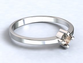 Stříbrný prsten zirkon 304101