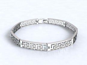 Náramek řecký motiv stříbrný 060501
