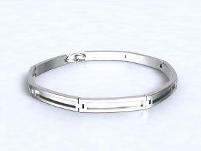 Náramek obdélníky stříbrný 061101