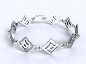 Stříbrný náramek labyrint 061601