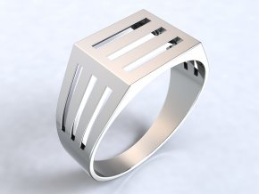 Ag925 prsten pánský mřížka