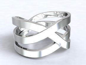 Stříbrný prsten výhybka