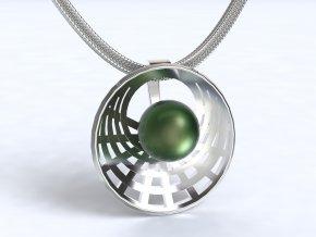 Au 585/1000 Zlatý přívěsek s perlou