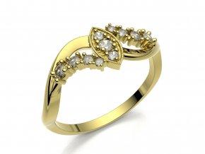 Zlatý prsten s kameny 1300101
