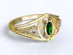 Zlatý prsten s kameny 1300201