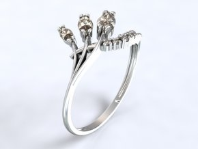 Zlatý prsten s kameny 1300501