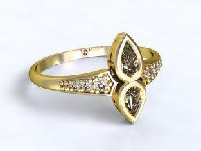 Zlatý prsten se zirkony 1300601